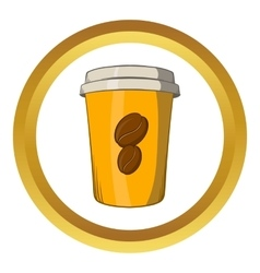 Take away coffee cup icon cartoon style vector