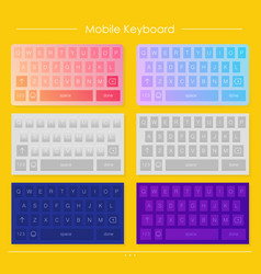 template of mobile keyboard designs vector image