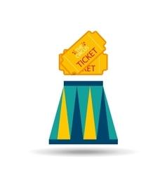 ticket circus design vector image
