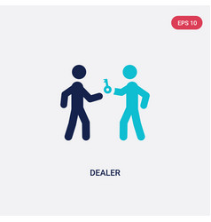 Two color dealer icon from activity and hobbies vector