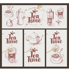 Utensils for drinking tea vector
