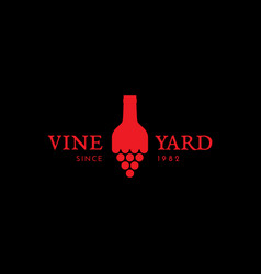 Vineyard logo vector