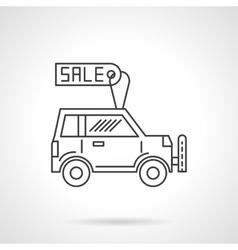 Automobile business icon line design icon vector image vector image