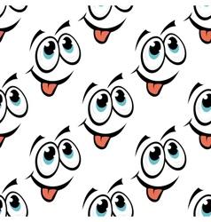 Happy emoticon face seamless pattern vector image vector image