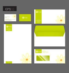 modern stationery set in format letterhead vector image