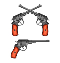 Revolvers on white background vector image vector image