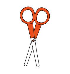 scissor utensil isolated vector image