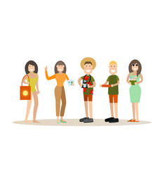 summer people in flat style vector image vector image