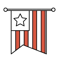 United states of america flag icon vector