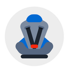 baby car seat isolated security transportation vector image