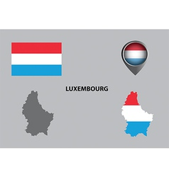 Map of Luxembourg and symbol vector image vector image