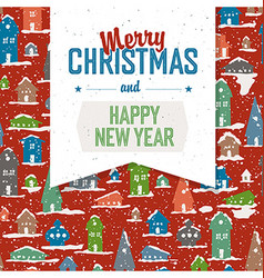Merry christmas vintage tag design on planks vector