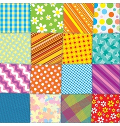 Quilt Patchwork Texture Seamless Pattern vector image vector image