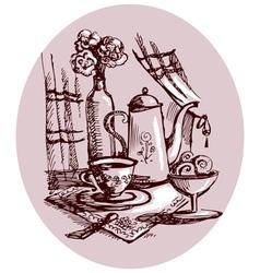 still-life sketch vector image