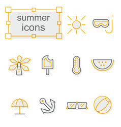 thin line icons set linear symbols set vector image