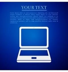 Laptop flat icon on grey background Adobe vector image