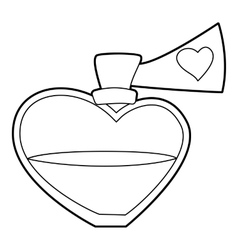 Love potion icon outline style vector image