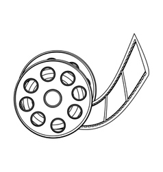 Monochrome contour with cinematography movie video vector