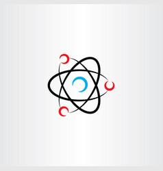 nucleus atom icon logo symbol vector image