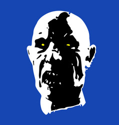 scary zombie face vector image vector image