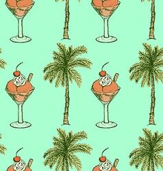 Sketch vacation symbols in vintage style vector image