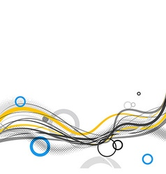 Abstract simple lines and circles in footer art vector image