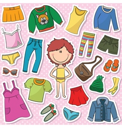 casual clothes for girls vector image