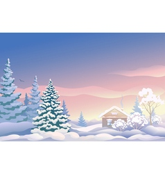 Christmas sunrise vector image vector image