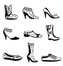 fashion woman shoes vector image vector image