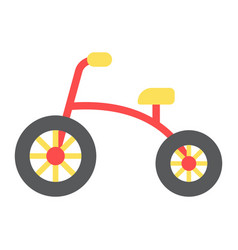 Tricycle flat icon bike and toy vector