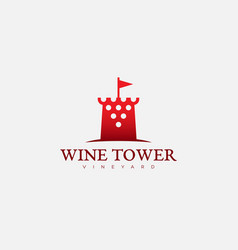wine tower logo vector image vector image