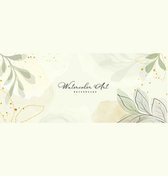 Abstract background watercolor green botanical vector
