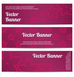 abstract banner with pink flowers vector image