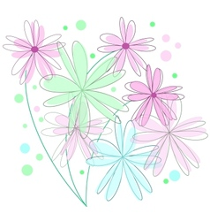 Abstract floral retro background vector image
