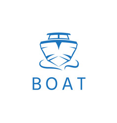 Abstract motor boat design template vector