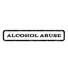 alcohol abuse watermark stamp vector image