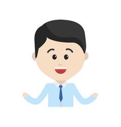 Avatar businessman cartoon face happy expression vector