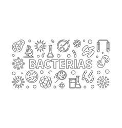 bacterias horizontal - virus vector image