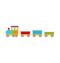 bright toy train vector image
