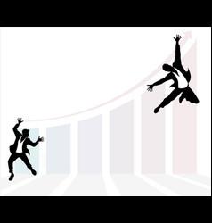 businessmans development jump vector image