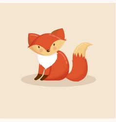 cartoon animal cute fox vector image