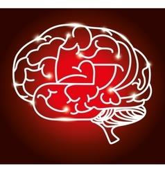 cartoon brain idea creative design isolated vector image