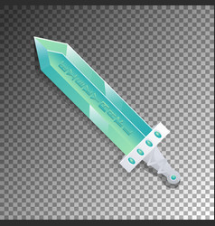 Cartoon broadsword isolated game element vector