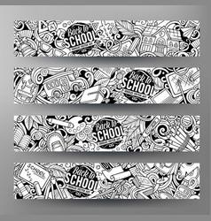 cartoon cute contour hand drawn doodles vector image