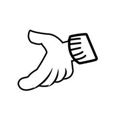 Cartoon hand gloved hand part of body vector