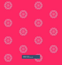 Clean floral pattern in red background vector