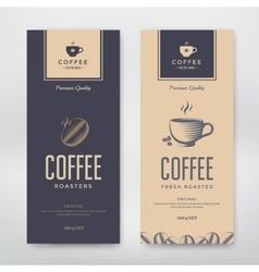 coffee packaging design vector image