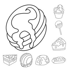 design of sweet and product symbol set of vector image