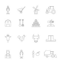 Farm Icon Outline vector
