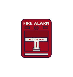 fire alarm line vector image